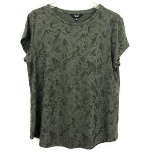 Simply Vera Wang Green Damask Tee